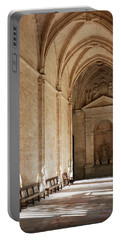 Interior Corridor Of Cathedral Of Segovia - Spain Portable Battery Charger