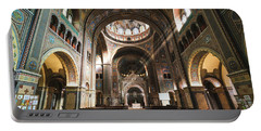 Interior Of The Votive Cathedral, Szeged, Hungary Portable Battery Charger