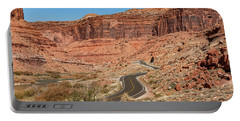 Portable Battery Charger featuring the photograph Into The Red Cliffs by Andy Crawford