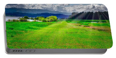 Portable Battery Charger featuring the photograph Inviting Airstrip by Tom Gresham