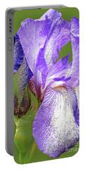 Iris Blue Chintz Portable Battery Charger