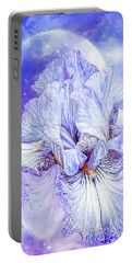 Portable Battery Charger featuring the mixed media Iris - Goddess Of Dreams by Carol Cavalaris
