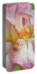 Iris Portrait-tiffany Portable Battery Charger