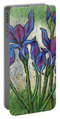 Irises In Bloom Portable Battery Charger