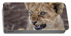 Irritated Lion Cub Portable Battery Charger