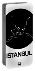 Istanbul Black Subway Map Portable Battery Charger