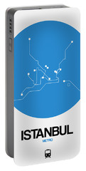 Istanbul Blue Subway Map Portable Battery Charger