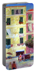 Italian Piazza With Laundry Portable Battery Charger