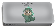 It's All About Attitude - Baby Room Nursery Art Poster Print Portable Battery Charger