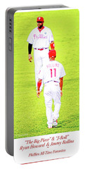 J Roll And The Big Piece, Ryan And Rollins, Phillies Greats Portable Battery Charger