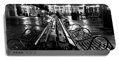 Jackson Square In The Rain Portable Battery Charger
