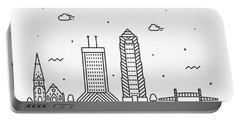 Jacksonville Cityscape Travel Poster Portable Battery Charger