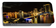 Jacksonville Skyline By Night Portable Battery Charger