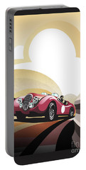 Portable Battery Charger featuring the painting Jaguar Xk 120 by Sassan Filsoof