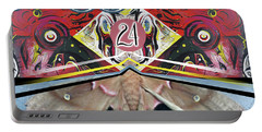 Portable Battery Charger featuring the painting Jagusawa 24 by John Jr Gholson