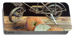 Jalapeno Cheddar Sourdough Bagels Portable Battery Charger