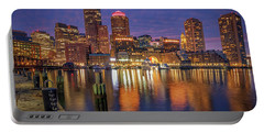 January Sunset At Fan Pier Portable Battery Charger