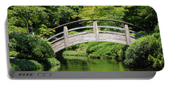 Japanese Garden Arch Bridge In Springtime Portable Battery Charger