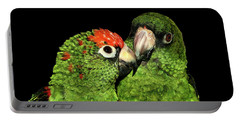 Portable Battery Charger featuring the photograph Jardine's Parrots by Debbie Stahre