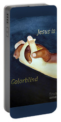 Jesus Is Colorblind Portable Battery Charger