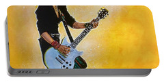 Portable Battery Charger featuring the painting Joan Jett by Joel Tesch