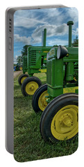 Portable Battery Charger featuring the photograph John Deer's In A Line by Mark Dodd