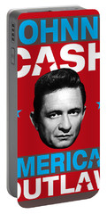 Johnny Cash - American Outlaw Portable Battery Charger