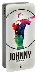 Johnny Cash Watercolor Portable Battery Charger