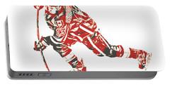 Johnny Gaudreau Calgary Flames Pixel Art 3 Portable Battery Charger