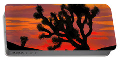 Joshua Tree At Sunset Portable Battery Charger