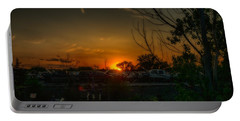 Junk Yard Sunset Portable Battery Charger