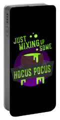 Just Mixing Some Hocus Pocus Halloween Witch Portable Battery Charger