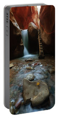 Portable Battery Charger featuring the photograph Kanarraville Falls by Tassanee Angiolillo