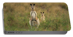 Kangaroos In The Countryside Portable Battery Charger