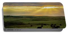 Kansas Flint Hills Sunset Portable Battery Charger