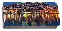 Kavala Town At Night Portable Battery Charger