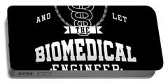 Keep Calm Biomedical Engineer Biology Science Profession Gifts Portable Battery Charger