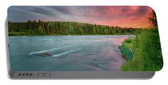 Kenai River Alaska Sunset Portable Battery Charger