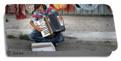 Kid Playing Accordeon Portable Battery Charger