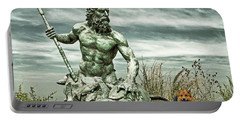 Portable Battery Charger featuring the photograph King Neptune And Miss Hanna At Cape Charles by Bill Swartwout Fine Art Photography