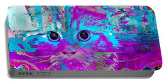 Kitty Collage Blue Portable Battery Charger