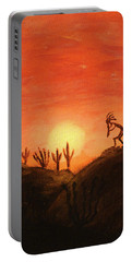 Kokopelli's Sunset Song Portable Battery Charger