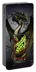 Portable Battery Charger featuring the digital art Kraken Storm Dragon by Stanley Morrison