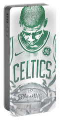 Kyrie Irving Boston Celtics Water Color Pixel Art 30 Portable Battery Charger