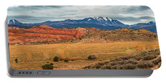Portable Battery Charger featuring the photograph La Sal Mountains by Andy Crawford