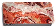 Lacy Fantasy Of Coral And Chocolate. Terracotta Touch 2 Portable Battery Charger