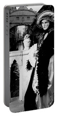 Portable Battery Charger featuring the photograph Lady And The Sigh by Donna Corless