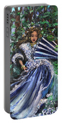 Lady In Forest Portable Battery Charger