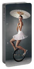 Lady On A Unicycle Portable Battery Charger