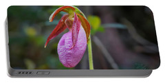 Lady Slipper Orchid Portable Battery Charger